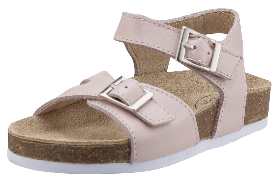 Old Soles Girl's Powder Pink Retreat Leather Sandals