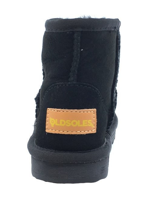 Old Soles Girl's Shearling Boots, Black