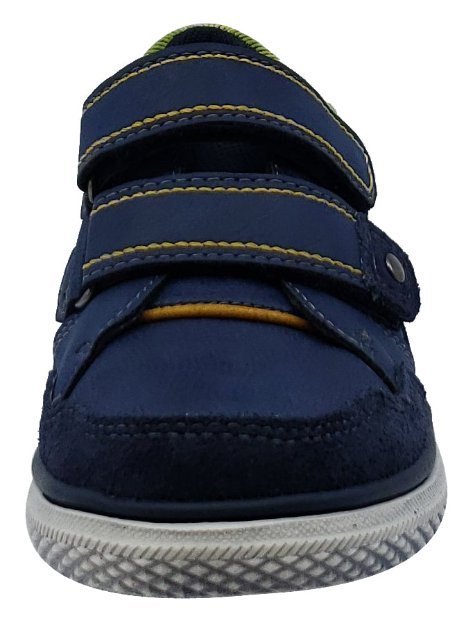 Beeko Torrington II Navy Leather Sneaker Hook and Loop for Boy's