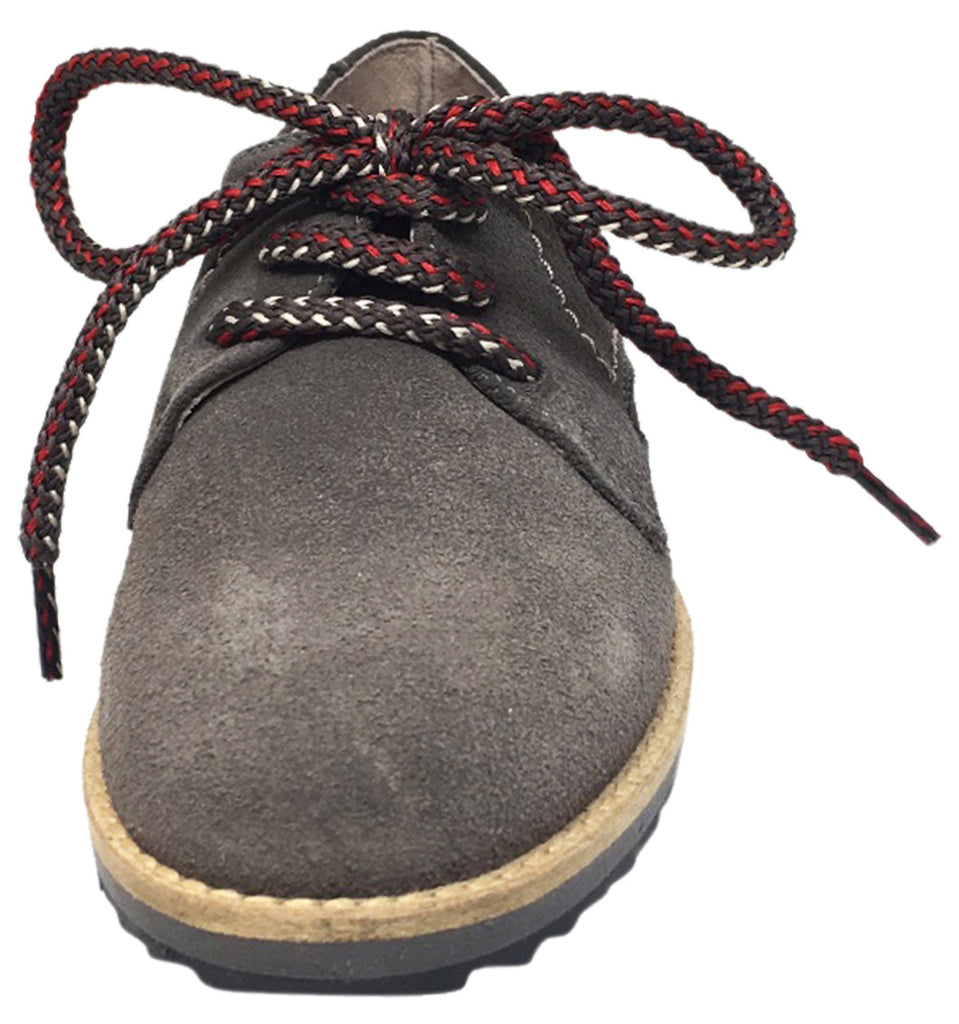 Hoo Shoes Boy's Howard's Suede Leather Multicolor Lace Up Platform Oxford Shoe