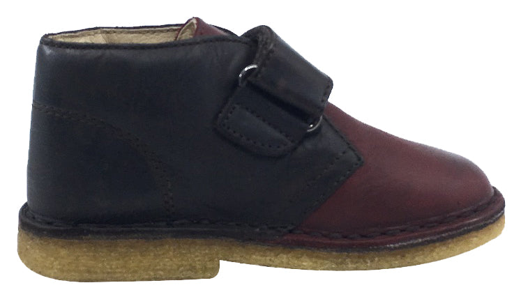 Naturino Boy's and Girl's Hook and Loop Closure Chukka Desert Boot, Moro-Bordeaux