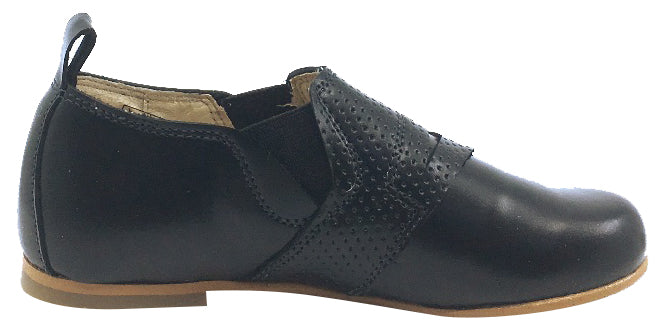 Luccini Boy's and Girl's Slip-On Loafer, Black