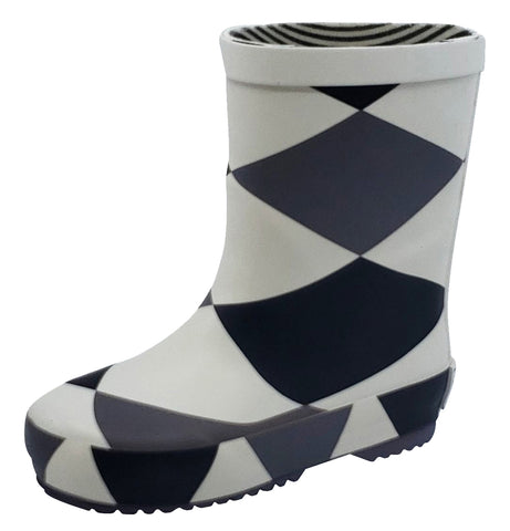 Boxbo Damier Girl's and Boy's Rain Boot
