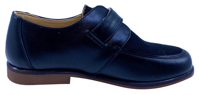 Maria Catalan Boy's & Girl's Black Dress Shoe