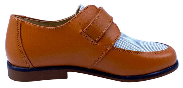 Maria Catalan Boy's & Girl's Cuero Tan Dress Shoe