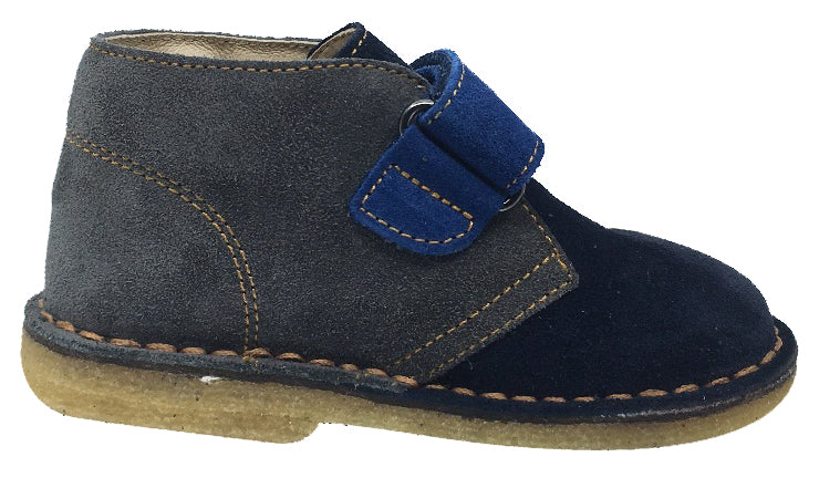 Naturino Boy's and Girl's Hook and Loop Closure Chukka Desert Boot, Blue Multi