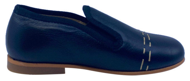 Luccini Boy's COSMOS Piso Point Natural Loafer - Black