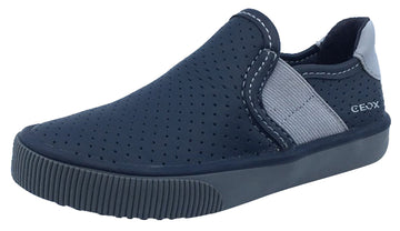 GEOX Boy's Kilwi Slip-On Sneaker Tennis Shoes, Navy/Grey