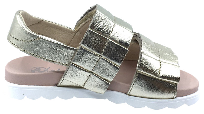 Naturino Girl's Sioux Sandals, Platino