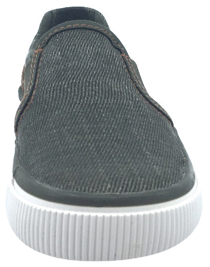 Geox Boy's and Girl's Kilwi Military Green and Brown Canvas