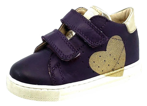 Naturino Falcotto Girls Heart Sneakers, VIOLA-PLATINO