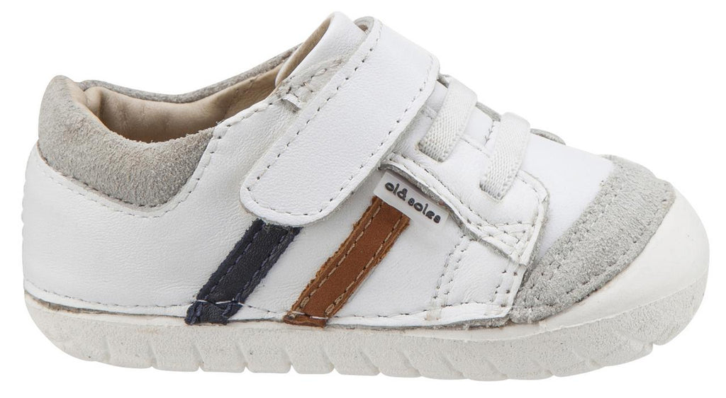 Old Soles Boy's Pave Denzle Snow/Navy/Tan Sneaker Shoe