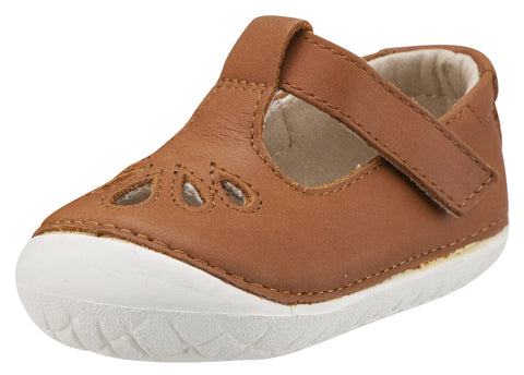 Old Soles Girl's Pave Petal Tan T-Strap Shoes