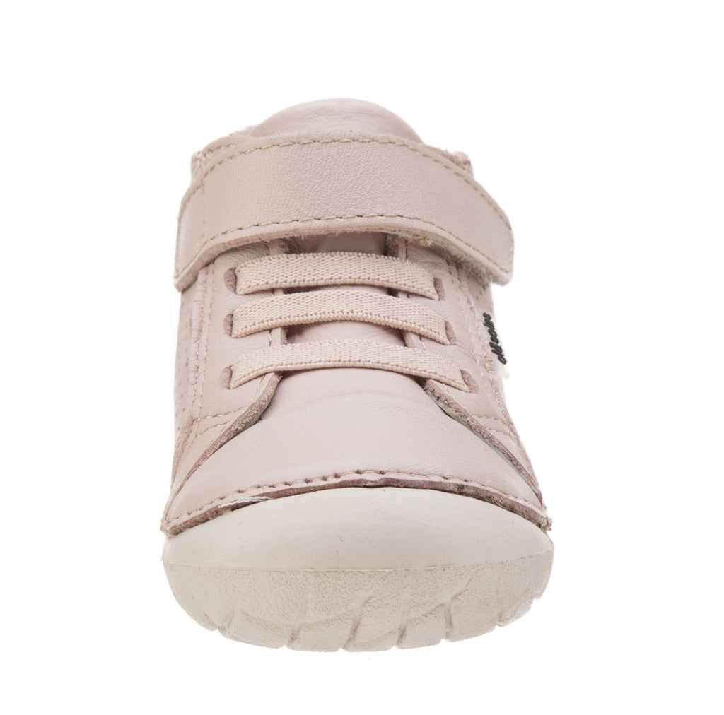 Old Soles Girl's Pave Cheer Premium Leather First Walker Sneaker Shoes, Powder Pink