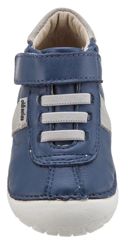 Old Soles Boy's and Girl's Tudors Pave Blue Jeans Leather Sneakers