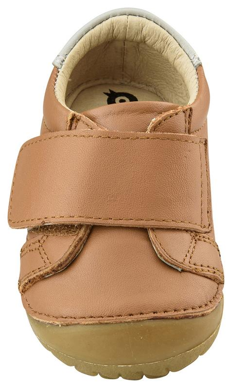 Old Soles Boy's Strap Pave First Walker Sneaker Tennis Shoes, Tan/Gris