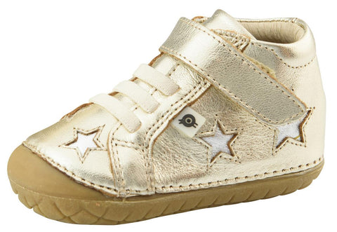 Old Soles Girl's and Boy's Reach Pave, Gold/Silver