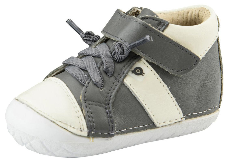 Old Soles Boy's Pave Earth Sneakers, Grey/White
