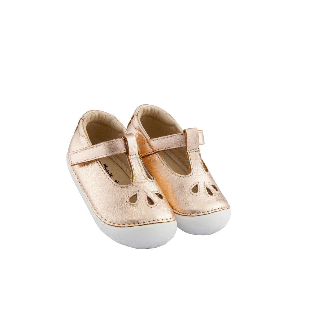 Old Soles Girl's Classic Pave T-Strap Shoes, Copper