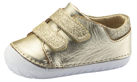 Old Soles Girl's Edgey Pave Sneakers, Gold Glam