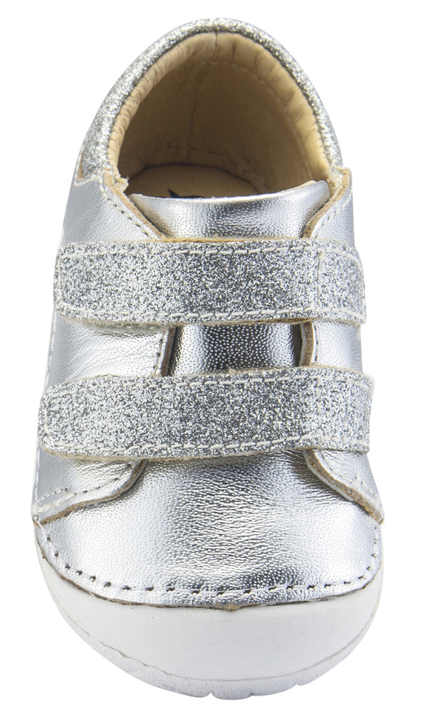 Old Soles Girl's and Boy's Edgey Pave, Silver/Glam Argent