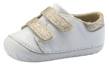 Old Soles Girl's and Boy's Edgey Pave Sneaker, Snow/Glam Cream
