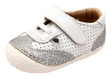 Old Soles Girl's Prize Pave Sneakers - Snow/Glam Argent