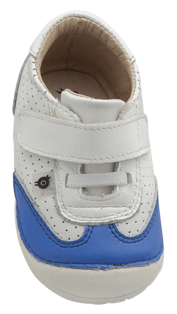 Old Soles Boy's and Girl's Prize Pave Sneakers, Snow/Neon Blue
