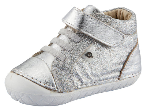 Old Soles Girl's and Boy's Ring Pave Sneakers, Argent Glam/Silver