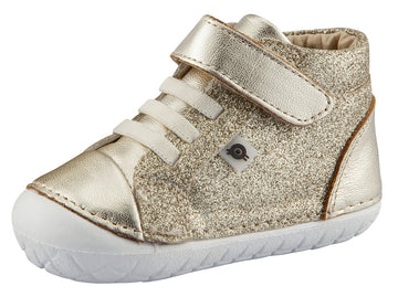 Old Soles Girl's and Boy's Ring Pave Sneakers, Gold Glam