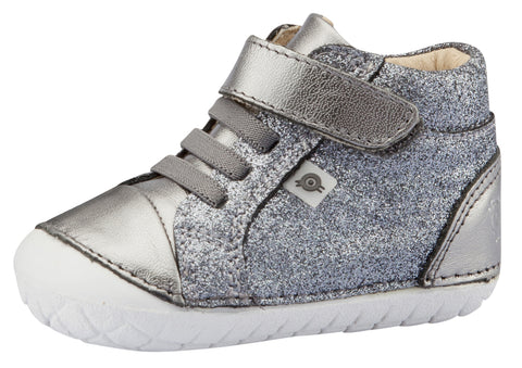 Old Soles Girl's Ring Pave Sneakers, Glam Gunmetal / Rich Silver