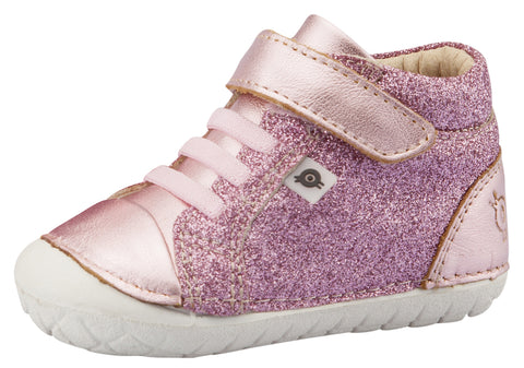 Old Soles Girl's Ring Pave Sneakers, Glam Pink / Pink Frost
