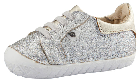 Old Soles Girl's Glamfull Pave Sneakers, Glam Argent
