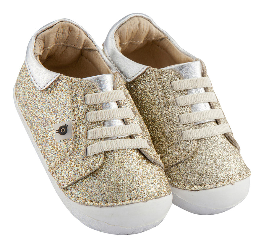 Old Soles Girl's and Boy's Glamfull Pave Sneakers, Glam Gold