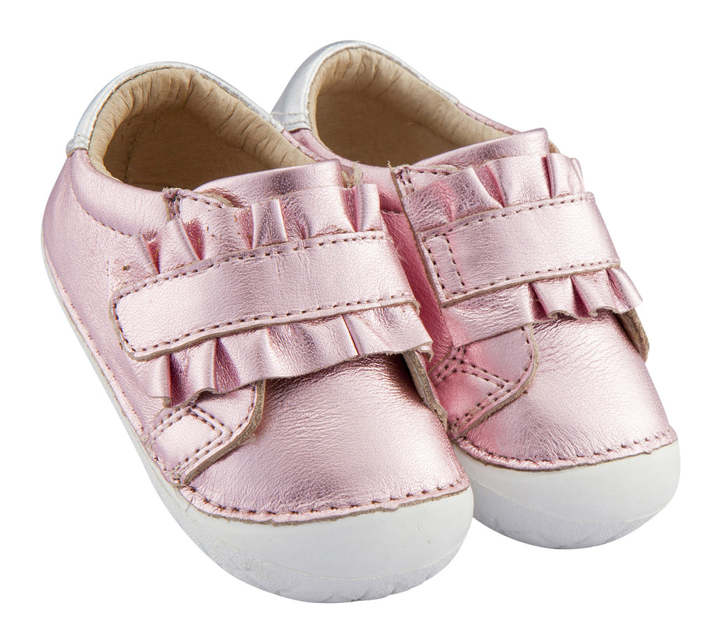 Old Soles Girl's Frill Pave Sneakers, Pink Frost/Silver