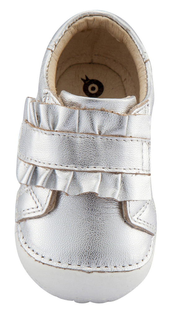 Old Soles Girl's Frill Pave Sneakers, Silver