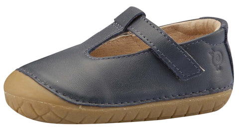 Old Soles Girl's T-2 Shoe, T-Strap, Navy