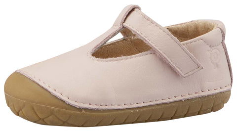 Old Soles Girl's T-2 Shoe, T-Strap, Powder Pink