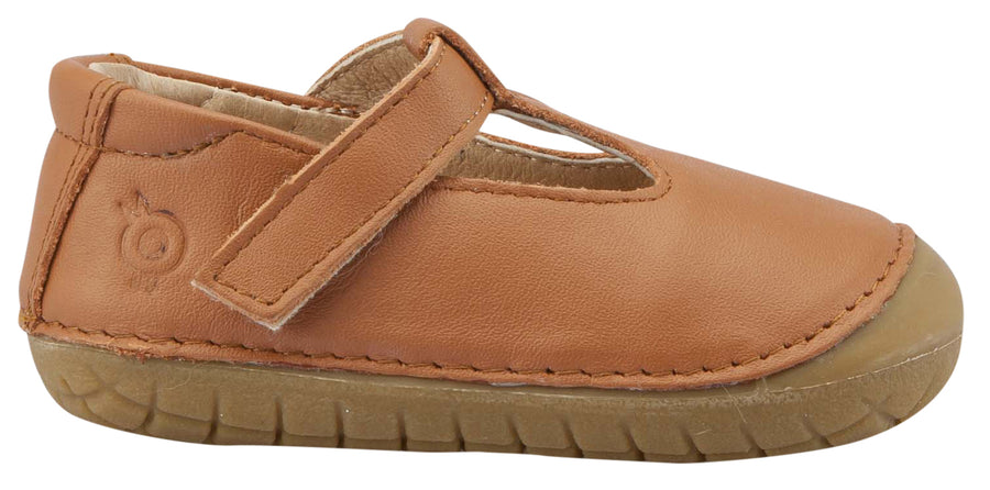 Old Soles Girl's T-2 Shoe, T-Strap, Tan