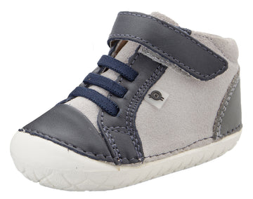 Old Soles Girl's & Boy's High Pave Sneakers - Navy/Grey/Grey Suede