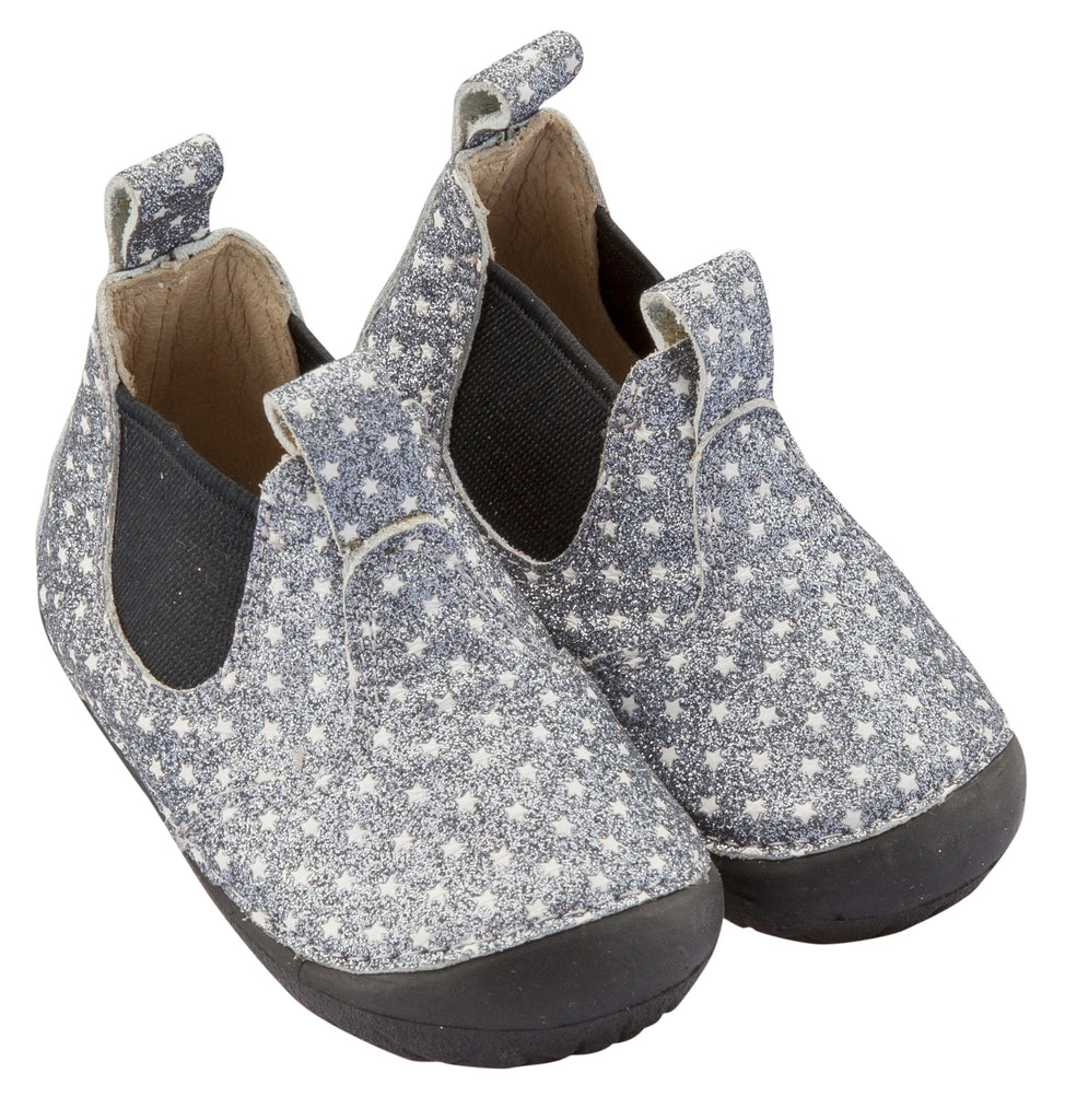 Old Soles Girl's and Boy's Twinkle Pave, Star Glam Gunmetal