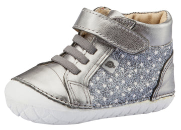 Old Soles Girl's and Boy's Starstruck Pave Sneakers, Star Glam Gunmetal / Rich Silver