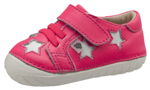 Old Soles Girl's Starey Pave, Neon Pink / Snow