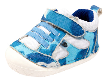 Old Soles Boy's and Girl's 4047 Bru Pave Shoes - Sky Camo/White/Cobalt