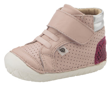 Old Soles Girl's 4048 Pave Goals Sneakers - Powder Pink/Red Serp/Silver