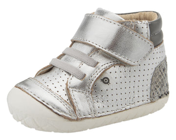Old Soles Girl's & Boy's 4048 Pave Goals Sneakers - Silver/Grey Serp/Grey