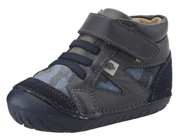 Old Soles Boy's 4049 Pave Squad Sneakers - Navy/Marine Camo/Grey