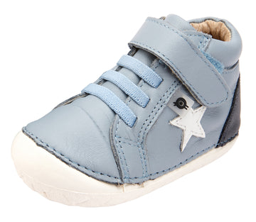 Old Soles Boy's and Girl's Champster Pave Shoes - Dusty Blue/Navy/Snow
