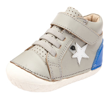 Old Soles Boy's and Girl's Champster Pave Shoes - Gris/Neon Blue/Snow