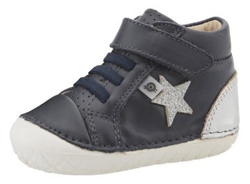 Old Soles Boy's & Girl's Champster Pave Shoes - Navy/Silver/Glam Argent